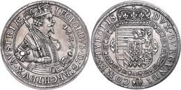 Taler, 1632, Leopold V., Hall, Dav. 3338, Vz.  Vz - Oesterreich