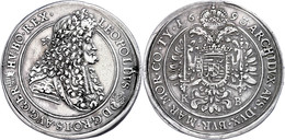 Taler, 1693, Leopold I., Kremnitz, Herinek 736, Ss+. - Oesterreich