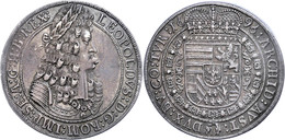 Taler, 1696, Leopold I., Hall, Dav. 3245, Ss-vz.  Ss-vz - Oesterreich