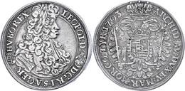 1/2 Taler, 1703, Leopold I., Kremnitz, Ss.  Ss - Oesterreich