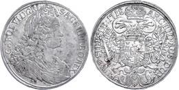 Taler, 1718, Karl VI., Breslau, Herinek 408, Dav. 1094, Kl. Rf., Ss.  Ss - Oesterreich