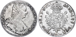Ducaton, 1754, Maria Theresia, Brügge, Eypeltauer 417, Dav. 1281, Ss+. - Oesterreich