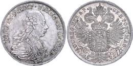 Paar, Taler, 1771, Johann Wenzel, Dav. 1193, Wz. Kratzer, Schöne Patina, Vz. Sehr Selten! Auflage Nur 200 Stück.  Vz - Oesterreich