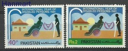 Pakistan 1981 Mi 562-563 MNH ( ZS8 PKS562-563 ) - Behinderungen