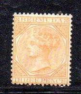 APR214 - BERMUDA ,  Yvert N. 3 Nuovo Senza Gomma.  (2380A) Fresco. Dent 14 Fil. CC - Bermuda