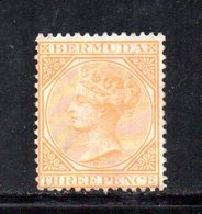 APR214 - BERMUDA ,  Yvert N. 3 Nuovo Senza Gomma.  (2380A) Fresco. Dent 14 Fil .CC - Bermuda