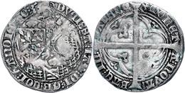 Hennegau, Doppelgroschen (2,80g), O.J. (1417-1433), Wilhelm IV. Von Bayern, Etwas Grünspan, Ss.  Ss - Belgien