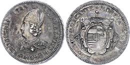 Lüttich, Bistum, Ecu Au St. Lambert, 1784, Sedisvakanz, Delm 489 (R3), Dav. 1590, Kratzer Auf Dem Revers, Schöne Patina, - Belgien
