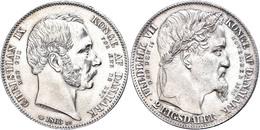 2 Rigsdaler, 1863, Christian IX., Auf Den Tod Frederiks VII. Und Den Regierungsantritt Christians IX., Dav. 78, Hede 3,  - Dänemark