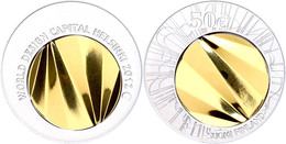 50 Euro, Bimetall Silber/Gold, 2012, Welthauptstadt Für Industriedesign 2012 Helsinki, 925er Silber 5,8 G, 750er Gold 5  - Finnland