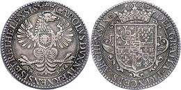 Nevers Und Rethel, Ecu (30 Sous), 1614, Charles II. Gonzaga, Dav. 3833, Kl. Kr. Auf Dem Revers, Schöne Patina, Ss+. - Frankreich