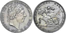 Crown, 1819, George III., LX, Seaby 3787, Schöne Dunkle Patina, Kl. Kratzer/Haarlinien, F. St. - Ohne Zuordnung
