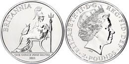2 Pounds, 2013, Britannia, 1 Unze Silber, Etui Mit OVP Und Zertifikat, St. Auflage Nur 10.000 Stück.  St - Ohne Zuordnung