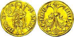 Florenz, Fiorino D'oro (3,46g), O.J.(1252-1422), Etwas Wellig, Gereinigt, Ss.  Ss - Italien