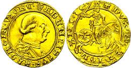 Mailand, Dukat (3,46g), O.J. (1450-1466), Francesco I. Sforza, Fb. 683, Etwas Wellig, Ss-vz.  Ss-vz - Italien