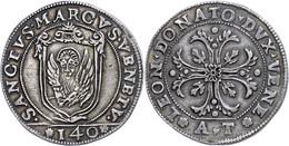 Venedig, Scudo, O.J. (1606-1612), Leonardo Donato, AT, Dav. 4229, KM 22, Ss.  Ss - Italien