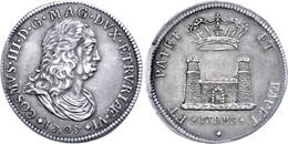 Toskana, Tallero, 1707, Cosimo III. Medici, Dav. 1500, Schöne Patina, F. Vz. - Italien