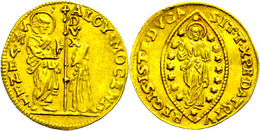 Venedig, Zecchino (3,45g), O.J. (1722-1732), Alviso III. Mocenigo, Fb. 1379, Ss.  Ss - Italien
