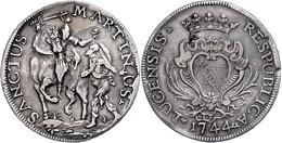 Lucca, Scudo, 1744, Dav. 1373, Ss.  Ss - Italien