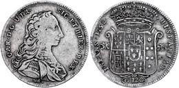 Neapel, Piastra (120 Grana), 1752, Karl III. Von Bourbon, Dav. 1400, Ss.  Ss - Italien