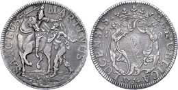Lucca, Scudo, 1754, Dav. 1376, Schöne Patina, Ss-vz.  Ss-vz - Italien