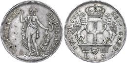 Genua, 4 Lire, 1795, Ss.  Ss - Italien