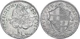 Bologna, Scudo (10 Paoli), 1796, Dav. 1359, Etwas Grünspan, Vz.  Vz - Italien