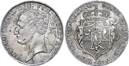 Neapel, 1808, Piastra (120 Grana), 1808, Joseph Bonaparte, Dav. 165, Vz.  Vz - Italien