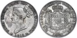 Parma, 5 Lire, 1815, Marie Louise, Dav. 204, Ss-vz.  Ss-vz - Italien