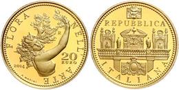 20 Euro, Gold, 2014, Flora In Der Italienischen Kunst-4. Ausgabe-Barock, 5,8 G Fein, KM 369, In Kapsel, In Ausgabeschatu - Italien