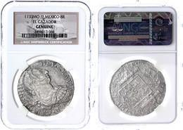 8 Reales, 1783?, MO FF, Karl III., In Slab Der NGC (aufgebrochen), S-ss. Aus Dem Schiffswrack Der El Cazador.  S-ss - Mexiko