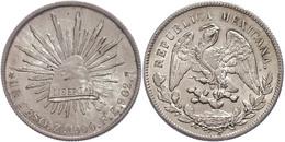 Peso, 1900, Zacatecas, ZsFZ, KM 409.3, Abrieb Auf Avers, Stempelfehler, Vz-st.  Vz-st - Mexiko