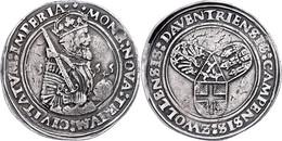 Deventer, Kampen Und Zwolle, Taler, 1555, Mit Hüftbild Karls V., Delm. 673 (R), Dav. 8534, Kl. Rf. Und Schrötlingsfehler - Niederlande