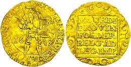 Utrecht, Dukat, 1649, Delm. 963, Kratzer, Ss.  Ss - Niederlande