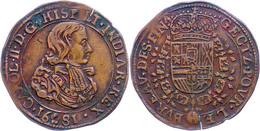 Jeton, Kupfer, 1681, Karl II., Dugn. 4459, Kl. Schrötlingsriss, Ss.  Ss - Niederlande