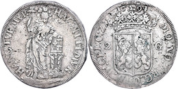 Geldern, 2 Gulden, 1694, Delm. 1140 (R1), Ss.  Ss - Niederlande
