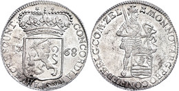 Zeeland, Silberdukat, 1768, Dav. 1848, Vz-st.  Vz-st - Niederlande