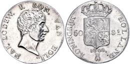 50 Stüber, 1808, Ludwig Napoleon, Dav. 228, Schulman 149, Vz.  Vz - Niederlande