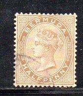 APR304 - BERMUDA 1880,  Yvert N. 15.  (2380A) . Dent 14 Fil .CC - Bermuda