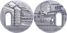 2 Dollars, 2014 Imperial Art - Mesopotamia, 2 Unzen Silber, Etui Mit OVP Und Zertifikat, St. Auflage Nur 500 Stück.  St - Niue