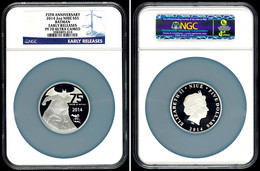 5 Dollars, 2 Unzen Silber, 2014, Batman, In Slab Der NGC Mit Der Bewertung PF70 Ultra Cameo, Early Releases. - Niue