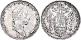 Scudo, 1823, Franz I., Mailand, J. 228, Dav. 8, Wz. Rf., Ss-vz.  Ss-vz - Oesterreich