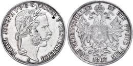 Doppeltaler, 1867, Franz Joseph I., Wien, J. 317, Wz. Rf., Berieben, Vz.  Vz - Oesterreich