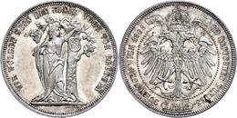 Taler, 1868, Franz Josef I., Bundesschießen In Wien, J. 371, Avers Vz-st, Revers St.  Vz-st - Oesterreich