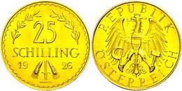 25 Schilling, Gold, 1926, Fb. 521, Vz-st.  Vz-st - Oesterreich