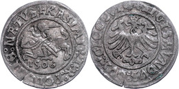 Schlesien, Glogau, Groschen, 1506, Sigismund I., Gumowski 474, Ss.  Ss - Polen