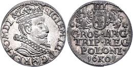 3 Groschen, 1601, Sigismund III. Wasa, Vz-st.  Vz-st - Polen