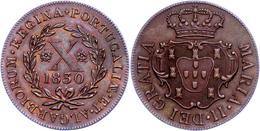 Azoren, 10 Reis, 1830, Maria II., KM 6, Vz.  Vz - Portugal