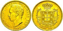 5000 Reis, Gold, 1867, Luis I., Fb. 153, Ss-vz.  Ss-vz - Portugal