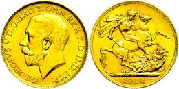 Sovereign, 1928, George V., Fb. 5, Wz. Rf., Vz.  Vz - Südafrika
